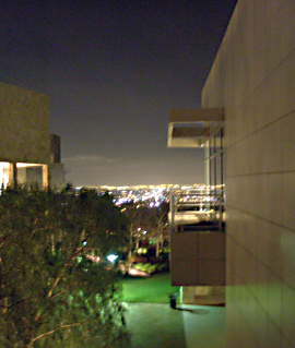 Overlooking Los Angeles from the Getty Museum next to the Research Facilities