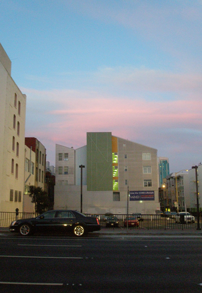 Pastel Building, Pastel Sky #2, Kathryn Arnold, September 11, 2009 evening in San Francisco
