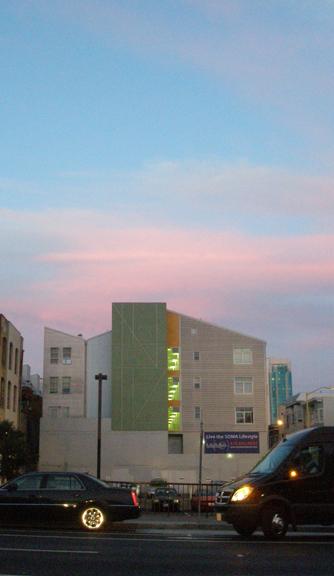 Pastel Building, Pastel Sky #1, kathryn arnold, san francisco September 11, 2009 evening