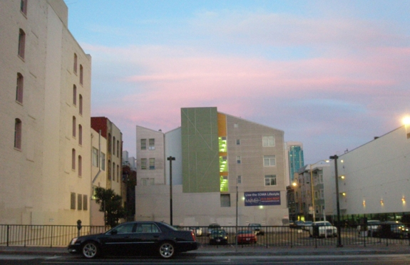Pastel Building, Pastel Sky #3, kathryn arnold, san francisco September 11, 2009 evening