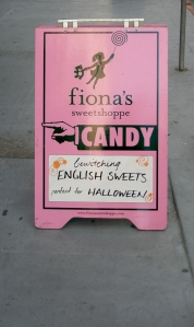 Fiona's sign, October 9, 2009