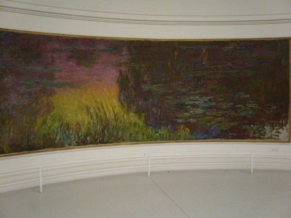 one of Monet's Waterlilies housed in Musee de l'Orangerie