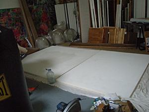 studio progress, kathryn arnold