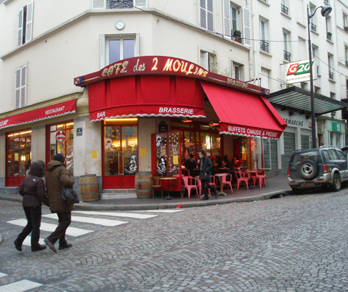 cafe used in amelie