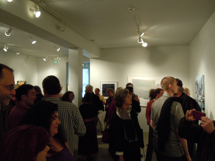 Crowds of visitors at Sandra lee Gallery