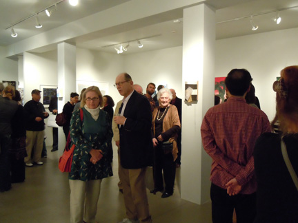 Opening night at Sandra lee Gallery