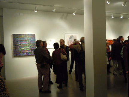 Crowds and Art at Sandra Lee Gallery  Opening