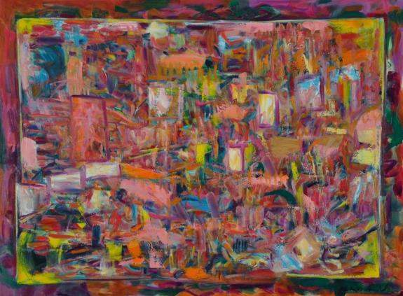 """buoyancy, by kathryn arnold, 30""""h  x 40""""w, oil on canvas"""