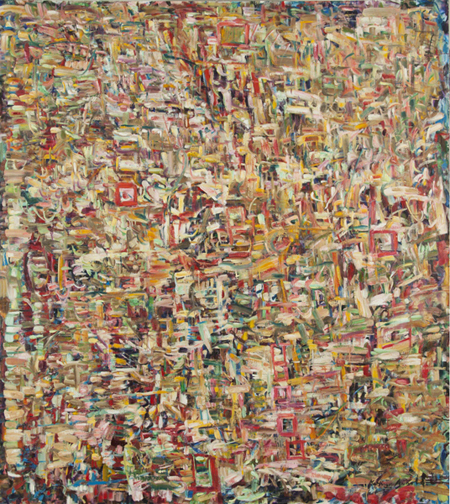 "Similar Feelings by Kathryn Arnold, 66""wide X 72""high, oil on canvas"
