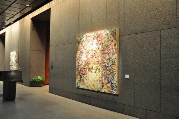 Installation at 555 California SF, Ca. Oct.-Dec. 2013, Kathryn Arnold