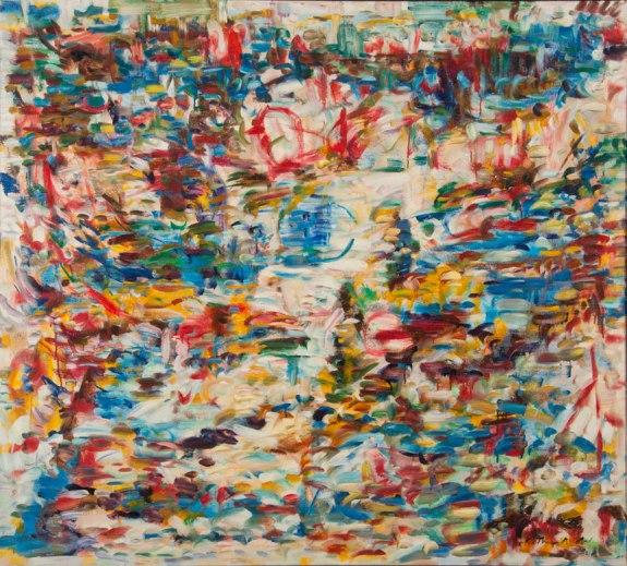 """Beach at Santa Cruz by Kathryn Arnold, 60""""w x 54""""h, oil on canvas"""