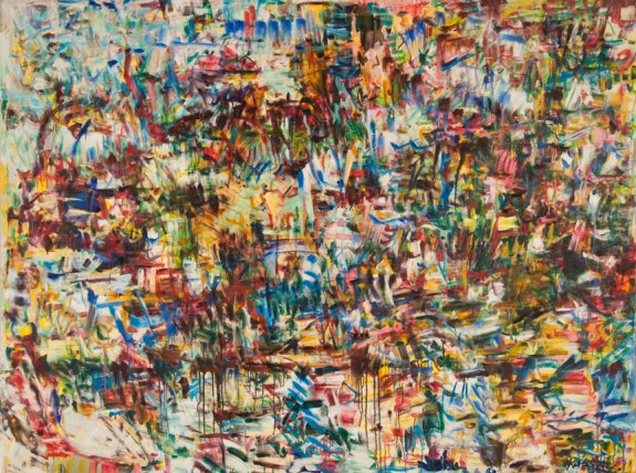 """Threw all I had into the sea""  (from T. Petty tune) by Kathryn Arnold, 78""w x 58""h, oil on canvas"