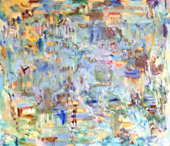 "Sporadic Inference by kathryn arnold oil on canvas 45"" x 66"""