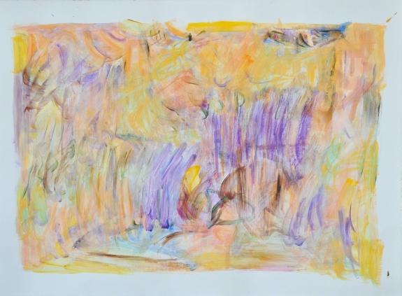 "Earth: Lifelike Elements by Kathryn Arnold, 30 x 22"", Acrylic on Paper"