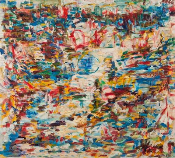 Beach at Santa Cruz c. Kathryn Arnold , oil on canvas, 54 x 60