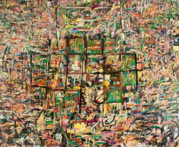 "Chance c. Kathryn Arnold, 65""w x 53""h, oil on canvas"