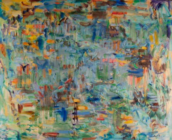 """sporadic inference c. Kathryn Arnold, 54""""h x 66""""w, oil on canvas"""