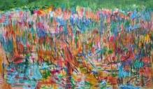 "Silk Wind by Kathryn Arnold, oil on Canvas, 96 x 52"""