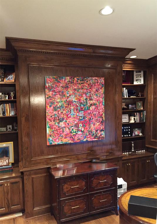 Installation of Kathryn Arnold's art