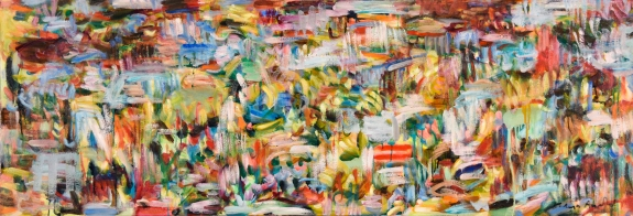 """Equation = Sequence"" , 24"" x 72"", oil on canvas by Kathryn Arnold"